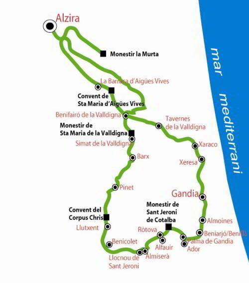 La Ruta de los monasterios en bicicleta btt