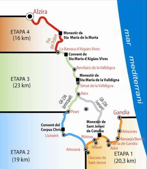 ruta de los monasterios senderismo