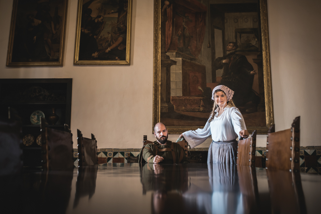Visita teatralizada en el Palau Ducal