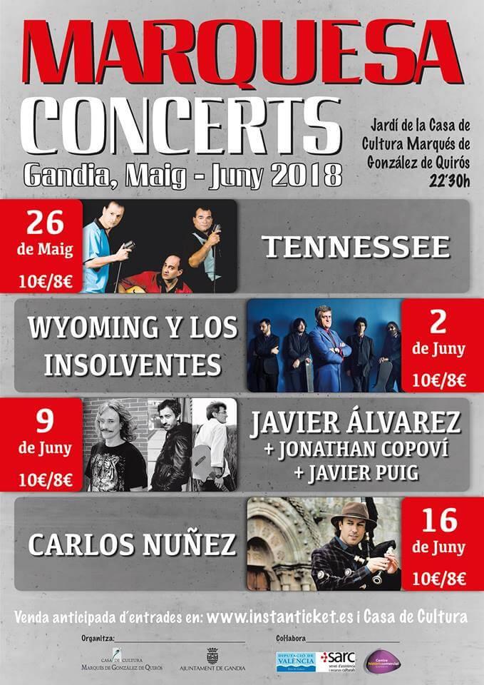 Marquesa concerts 2018