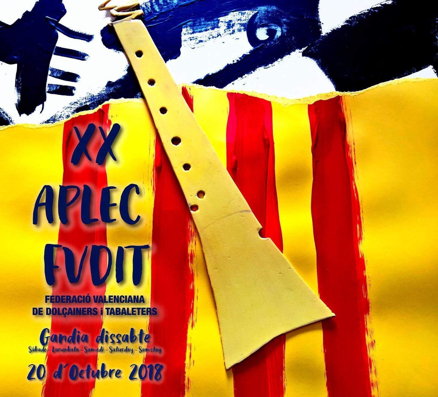 XX Aplec de la Federació Valenciana de Dolçainers i Tabaleters a Gandia