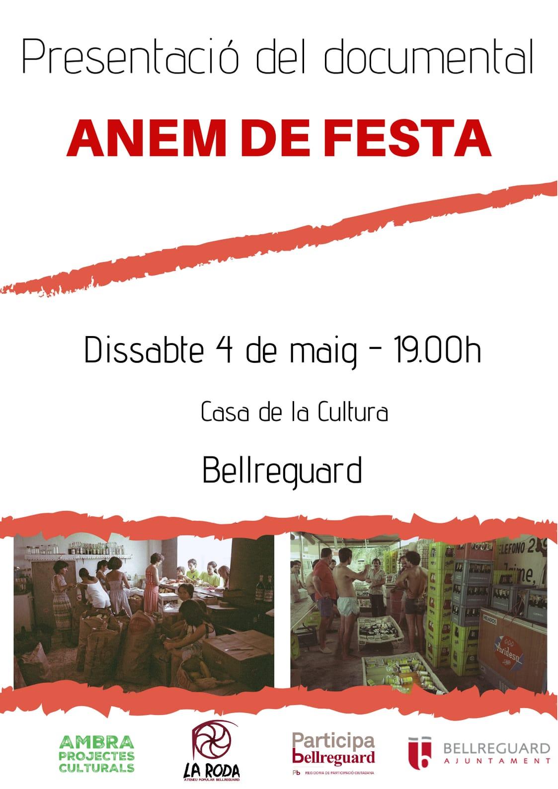 Presentació del documental Anem de Festa a la Casa de Cultura de Bellreguard