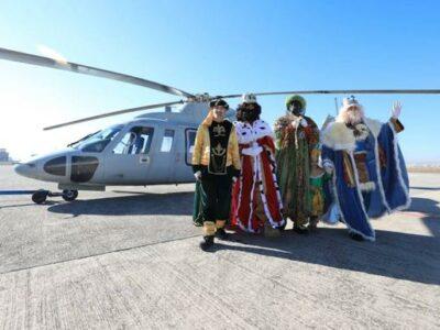 Los Reyes Magos visitarán Gandia desde el aire
