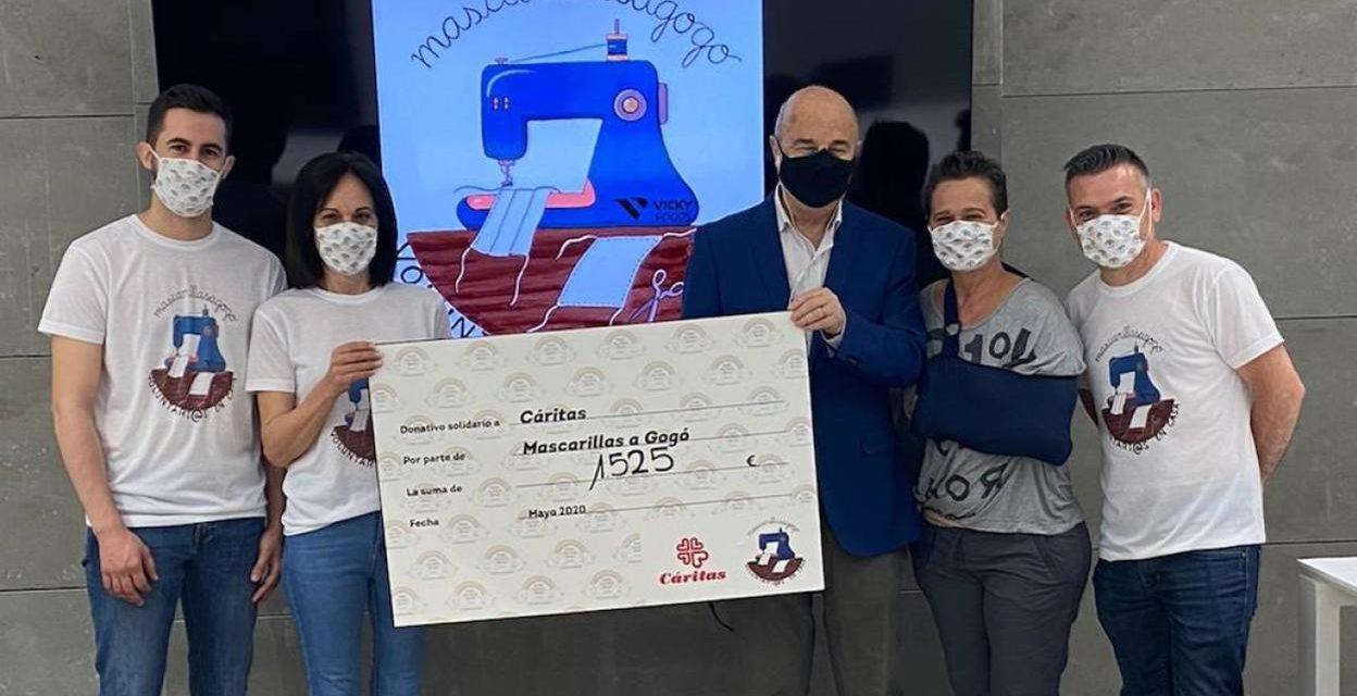 «Mascarillas a gogó» dona 1.525 euros a Cáritas Gandia