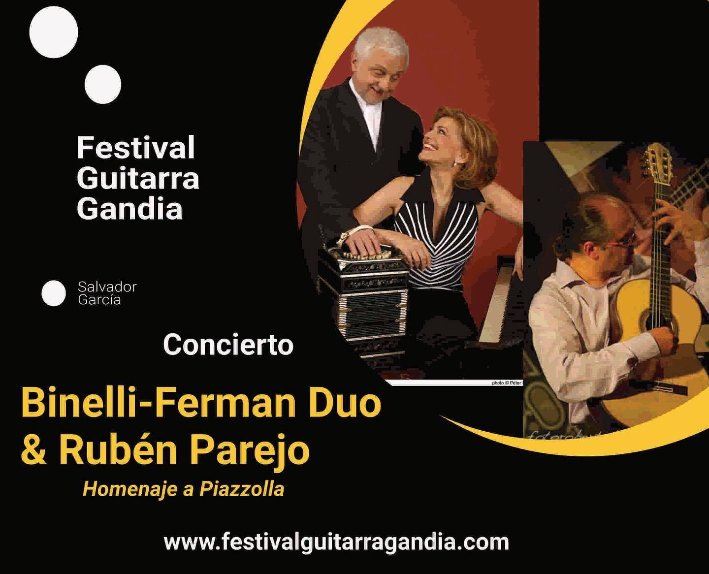 FESTIVAL DE GUITARRA GANDIA: Binelli – Ferman dúo & Rubén Parejo